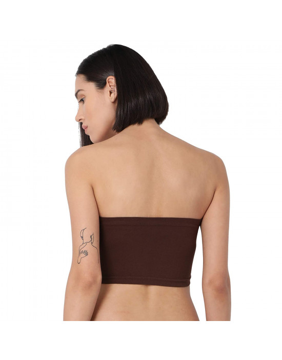 GOLDSTROMS Women's Strapless Spandex Fabric Short Tube Top - Set of 2