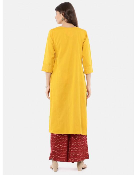 Women Yellow & Red Printed...
