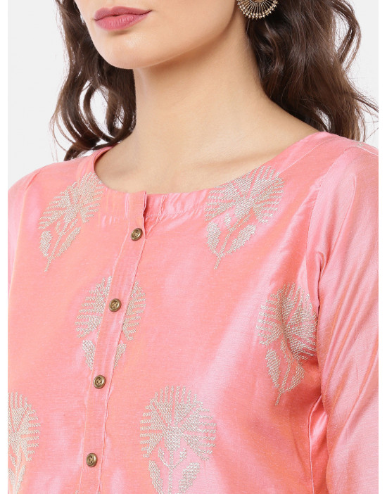 Women Pink & Golden Printed...