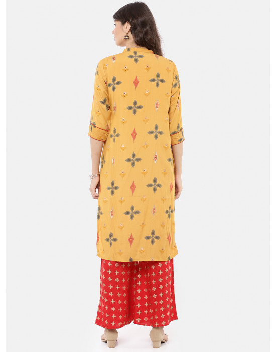 Women Yellow & Red Printed...