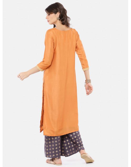 Women Orange & Grey Printed...