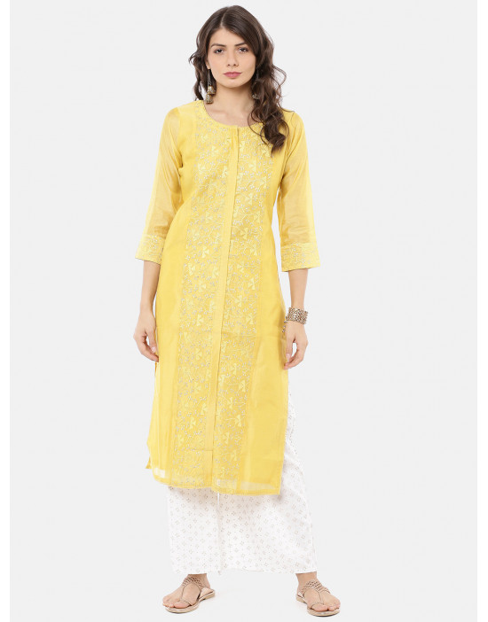 Women Yellow & White...
