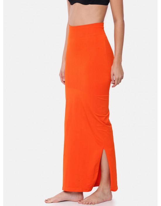 Women Orange Saree Shapewear