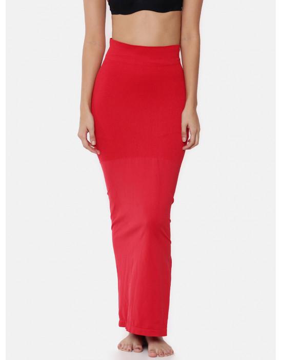 Women Red Saree Shapewear