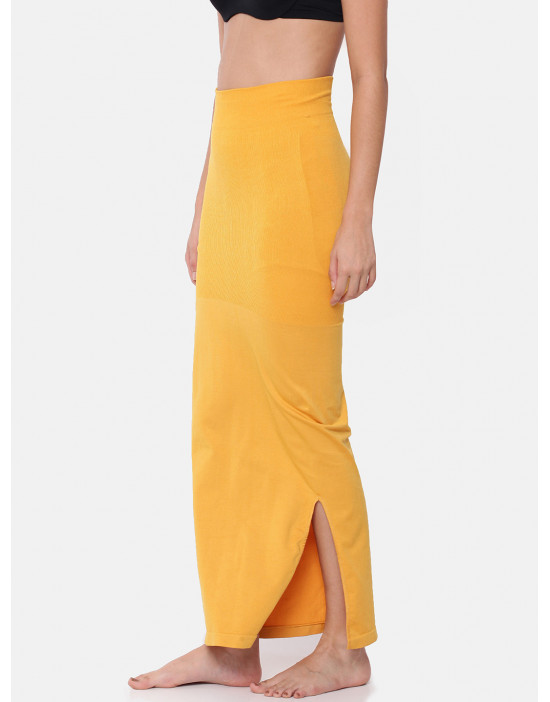 Women Yellow Saree Shapewear