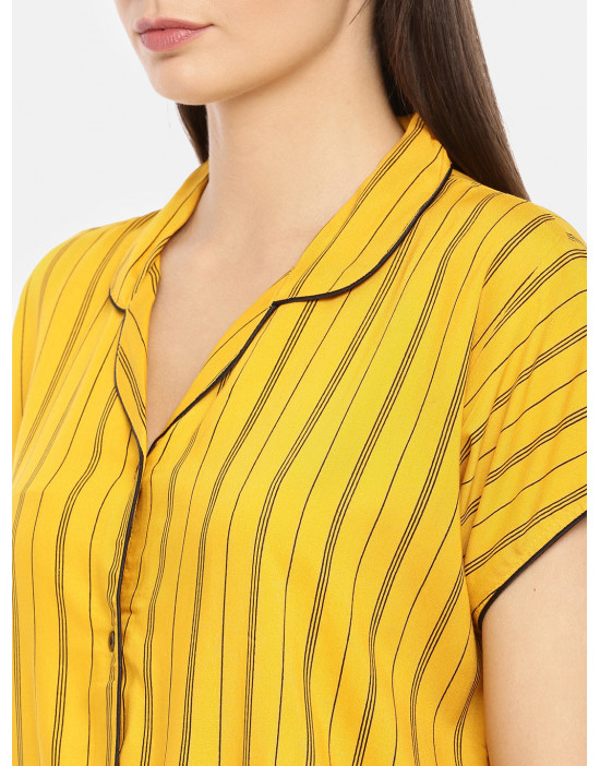 Womens Front Open Yellow...