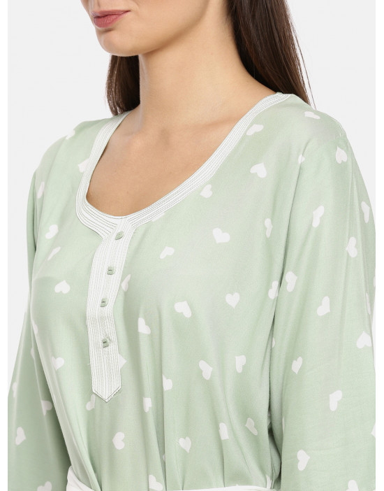 Womens Round Neck Green...