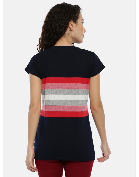 Women Black & Red Striped...
