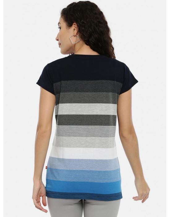 Women Black & White Striped...