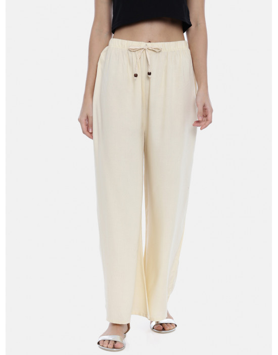 Womens Off-White Solid...