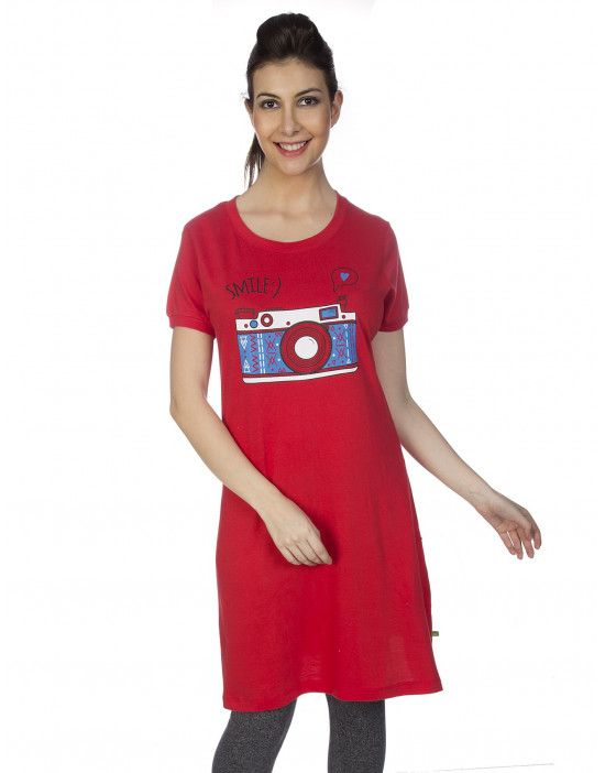 Womens Super Long Tunic with Side Pocket