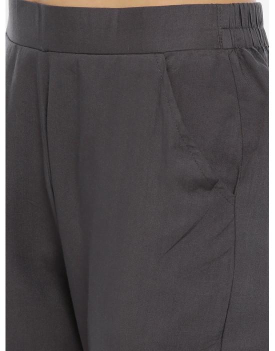 Womens Grey Rayon Fabric...
