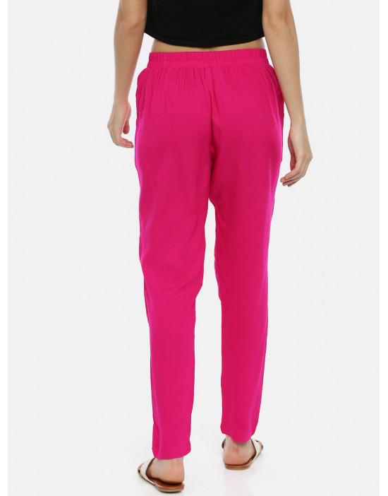 Womens Fuchsia Rayon Fabric...