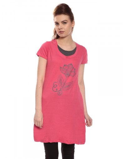 Women's Yoga Casual Round Neck Super Long Tee - Goldstroms