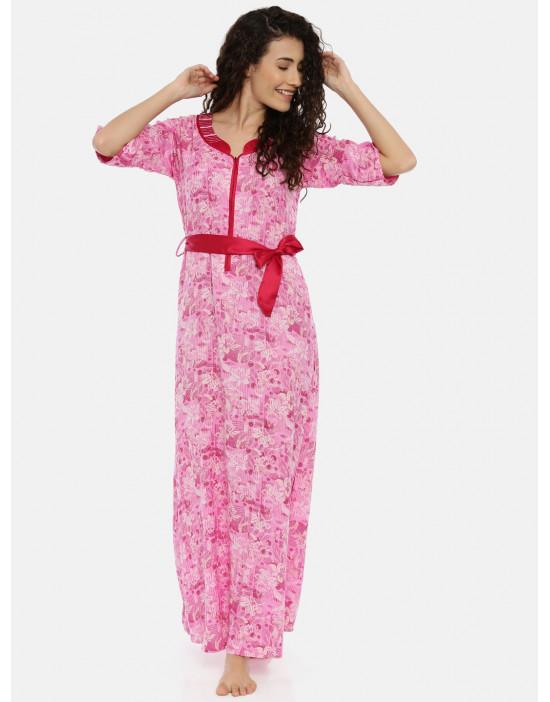 Womens Pink Printed...