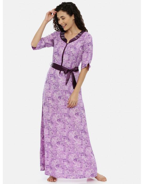 Womens Purple Printed...