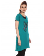Women's Yoga Casual Round Neck Super Long Tee