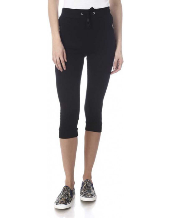 Womens Black Solid Cotton...