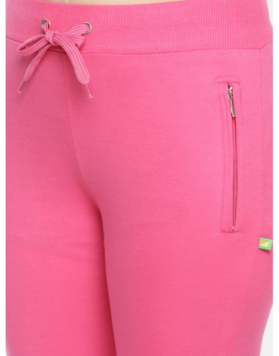 Womens Fuchsia Solid Cotton...
