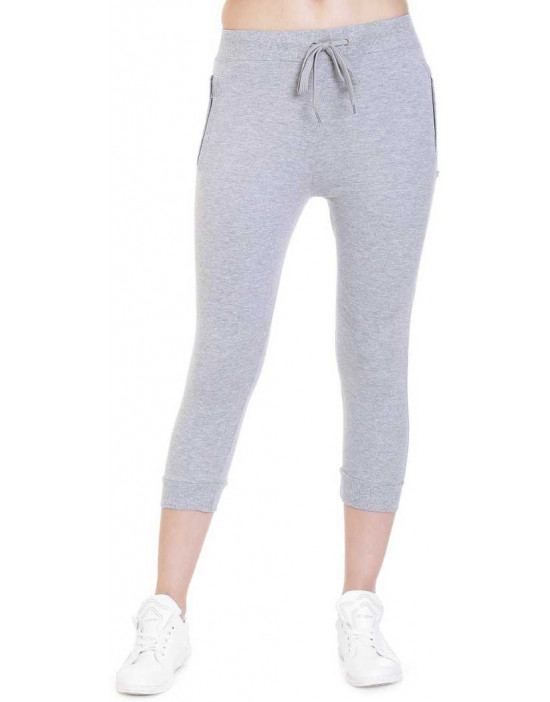 Womens Grey Solid Cotton...