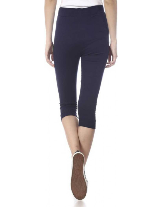 Womens Navy Solid Cotton...