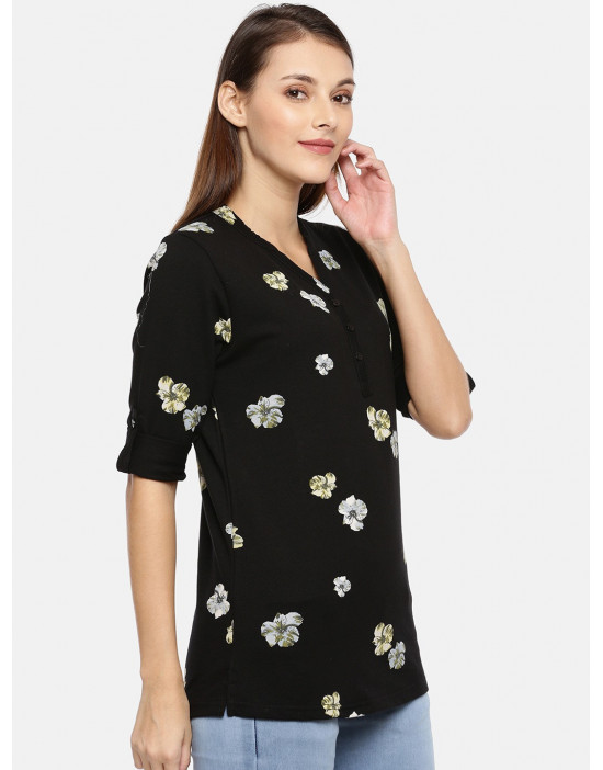 Women Black Floral Printed...