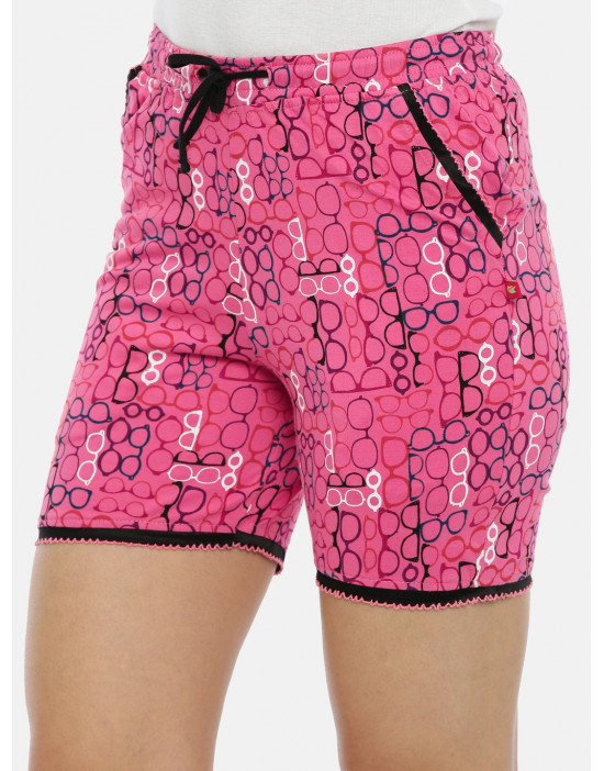 Womens Pink Printed Cotton...