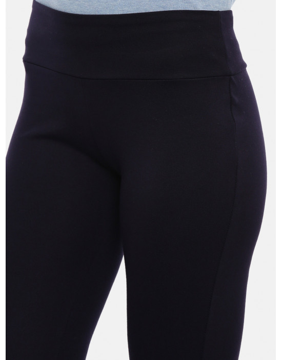 Womens Navy Blue Solid...
