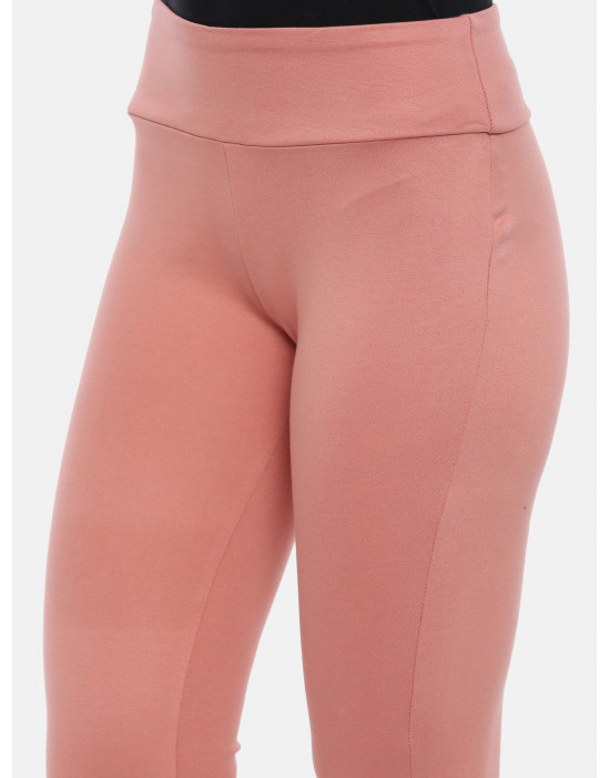 Womens Peach Solid Regular...