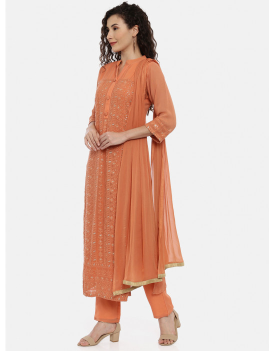 Womens Peach embroidered...
