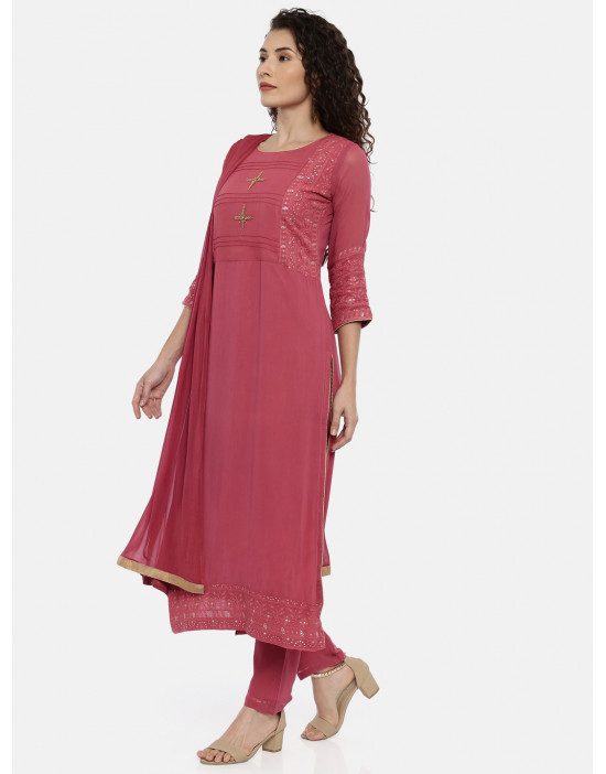 Womens Red embroidered...