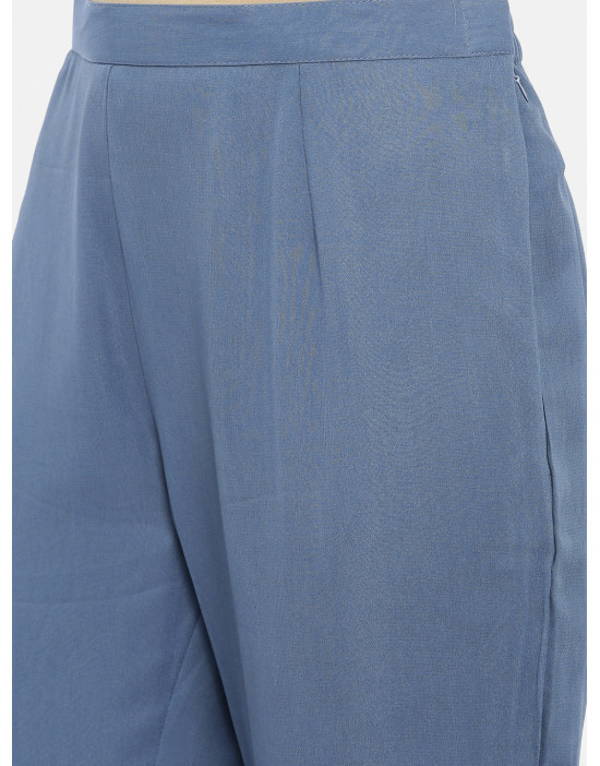 Womens Blue embroidered...