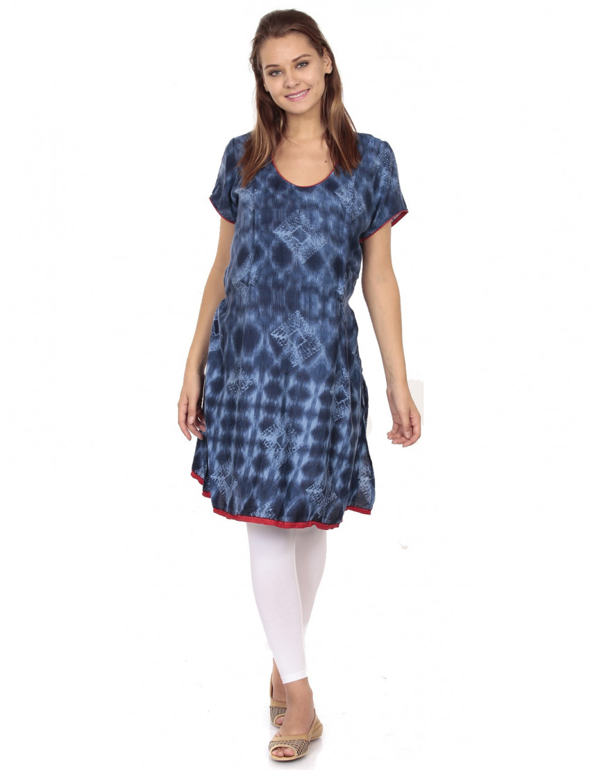Women Maternity Nursing Printed Kurti with Vertical Zipper