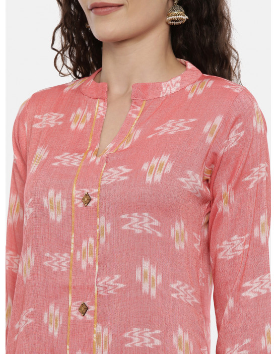 Womens Peach Printed...