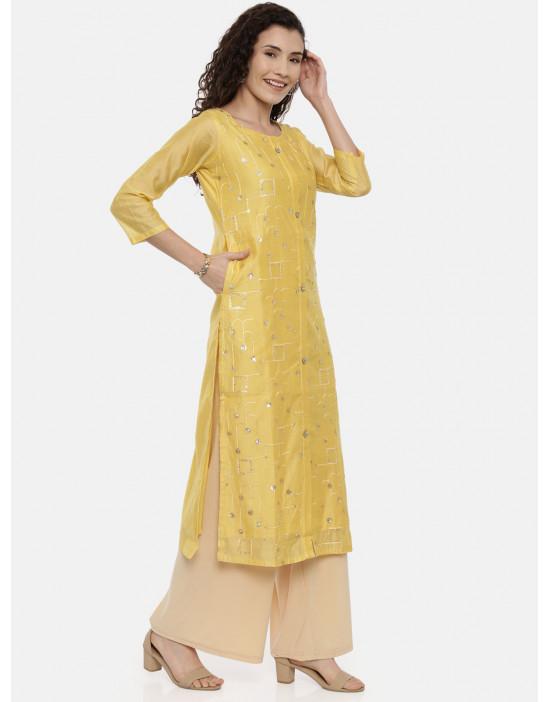 Womens Yellow-Coloured...