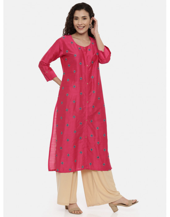 Womens Pink-Coloured...