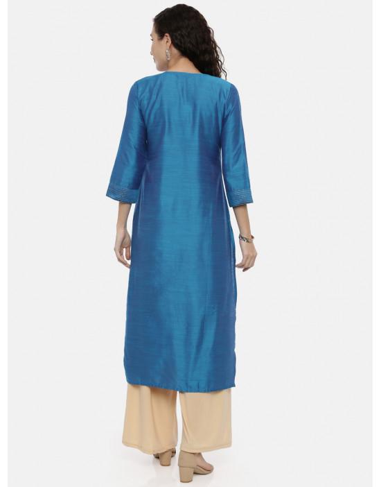 Womens Blue-Coloured...