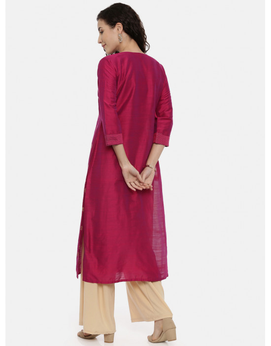 Womens Fuschia-Coloured...