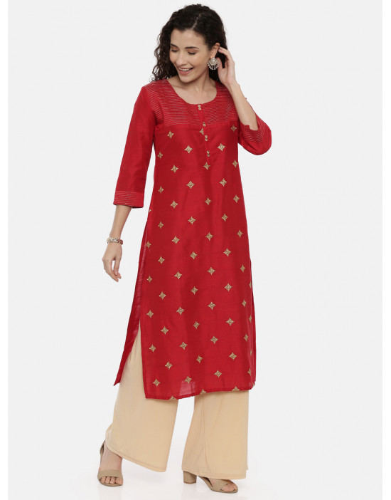 Womens Red-Coloured...