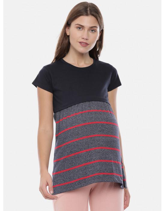Womens Maternity Stripe Tee...