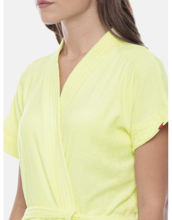 Womens Lemon Color Plain...