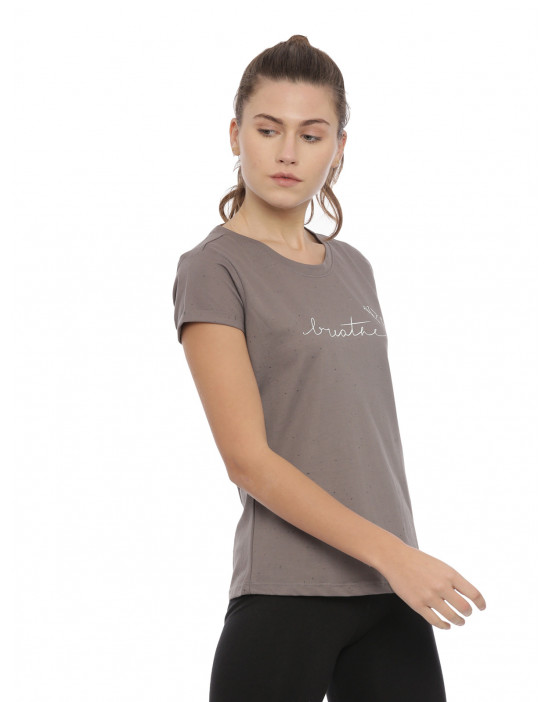 Womens Grey Color Printed Top