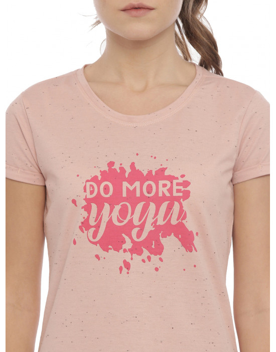 Womens Pink Color Printed Top