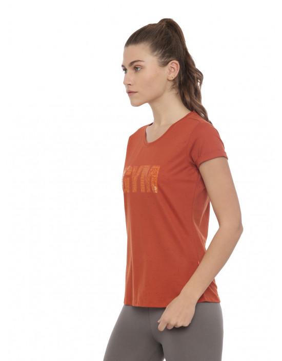 Womens Rust Color Printed Top
