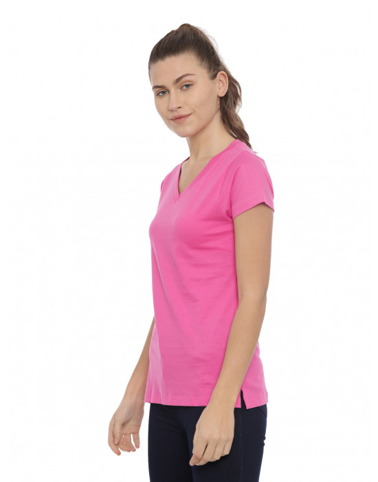 Womens Fuchsia Color Plain...