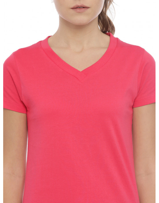 Womens Peach Color Plain...