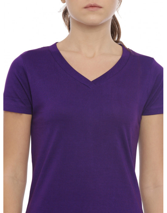 Womens Purple Color Plain...