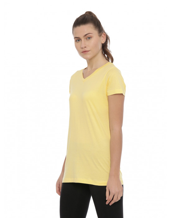 Womens Yellow Color Plain...