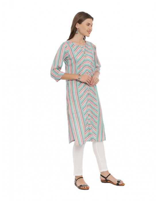 Womens Green Color Printed...