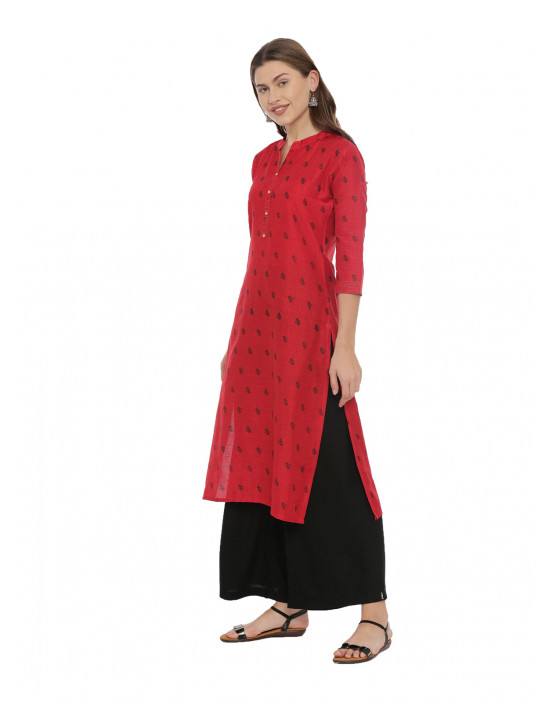 Womens Red Color Printed...